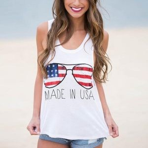 Tops - 3/$25!ONLY TWO LEFT!!❤️MADE IN USA summer tank top